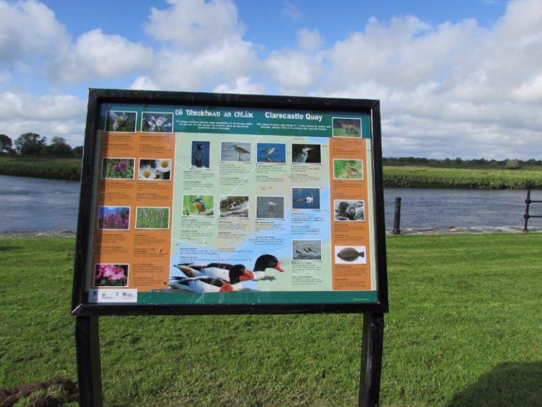New signage at Clarecastle Quay