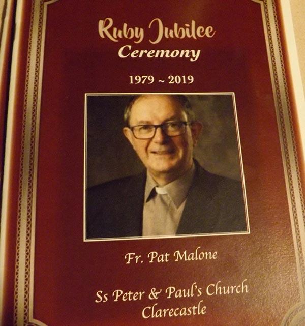 Fr Pat Ruby Jubilee 2019