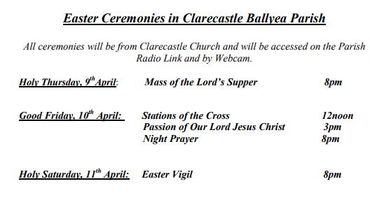 Easter Ceremonies 2020